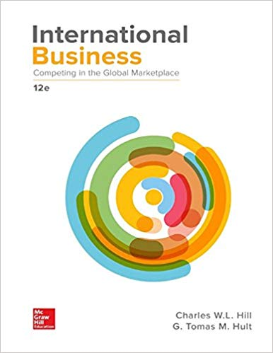 Solution manual for International Business: Competing in the Global Marketplace 12th Edition by Hill