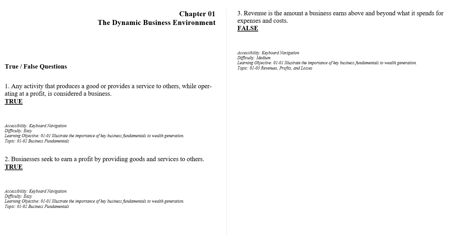 Test bank for Understanding Canadian Business 10th edtion by William G Nickels的图片 3