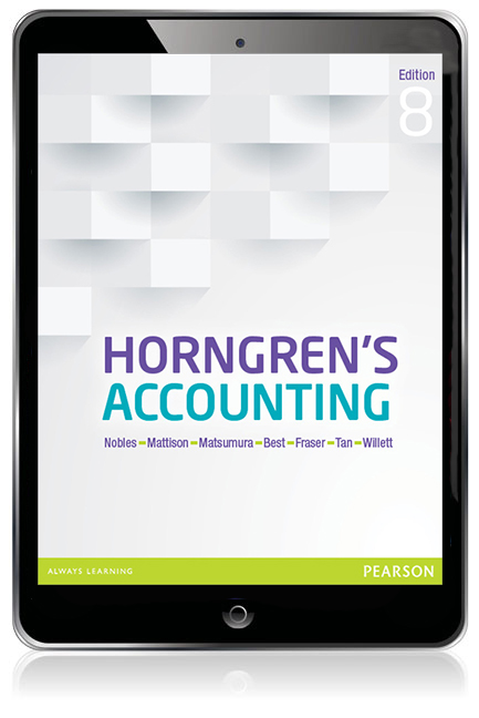 Test bank for Horngren's Accounting 8th Edition by Nobles