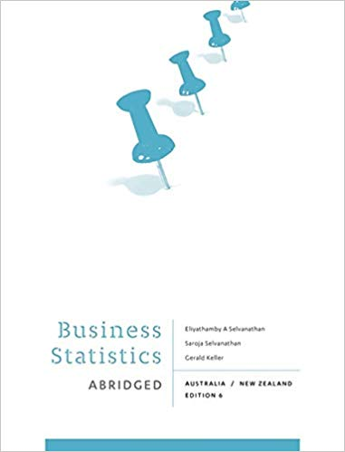 Test bank for Business Statistics Abridged: Australia New Zealand 6th edition by Gerald Keller