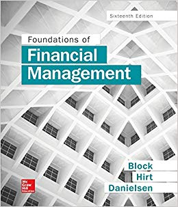 Test bank for Foundations of Financial Management 16th Edition by Stanley Block