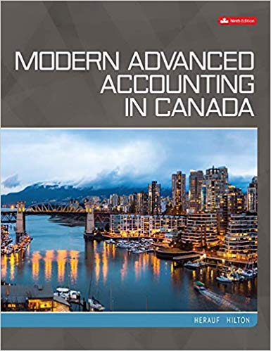 Test bank for Modern Advanced Accounting in Canada 9th Canadian Edition by Darrell Herauf