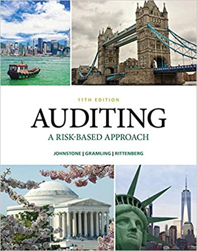 Test bank for Auditing: A Risk Based-Approach 11th Edition by Karla M Johnstone-Zehms