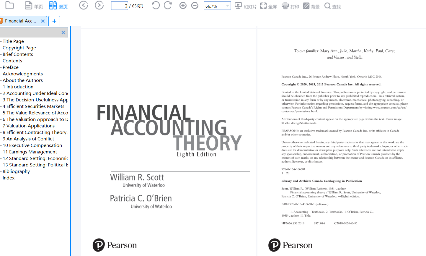 Financial Accounting Theory 8th Edition by William R. Scott的图片 2
