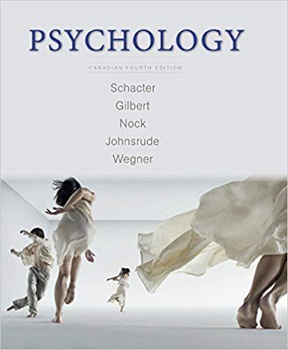 Test bank for Psychology 4th Canadian Edition by Daniel L. Schacter