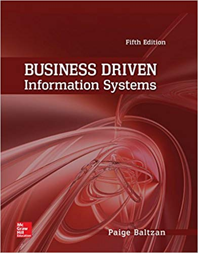 Solution manual for Business Driven Information Systems 5th Edition by Paige Baltzan