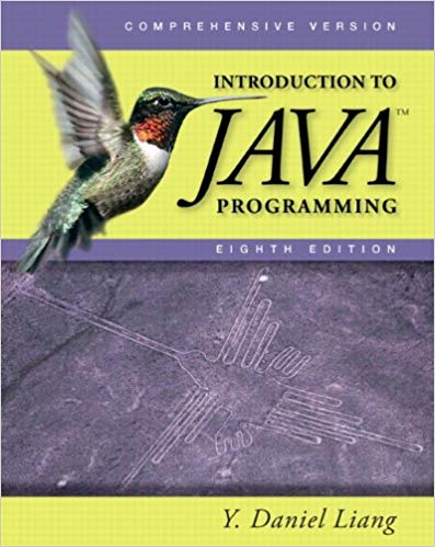 Test Bank for Introduction to Java Programming: Comprehensive Version 8th Edition by Y. Daniel Liang