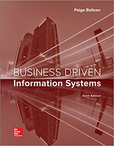 Solution manual for Business Driven Information Systems 6th Edition by Paige Baltzan的图片 1