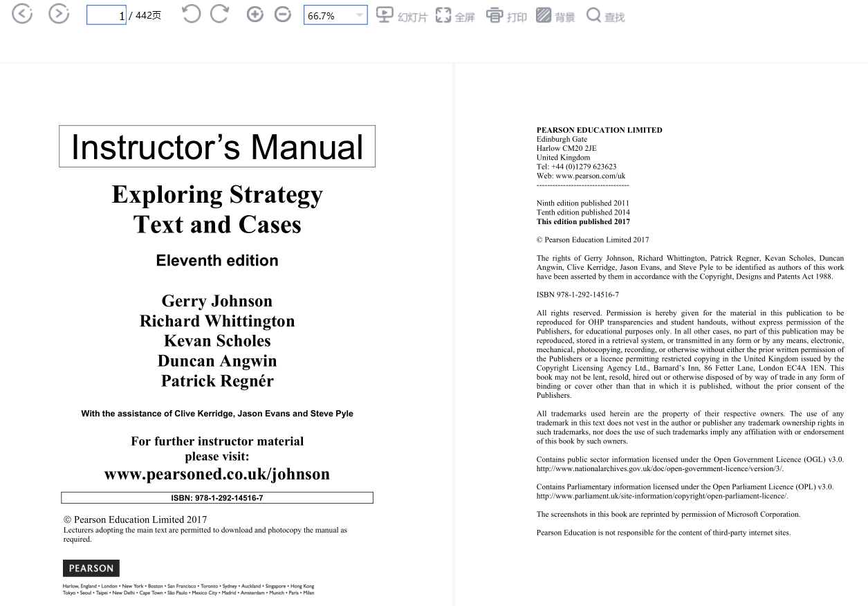 Solution Manual For Exploring Strategy Text and Cases 11th Edition by Gerry Johnson的图片 2