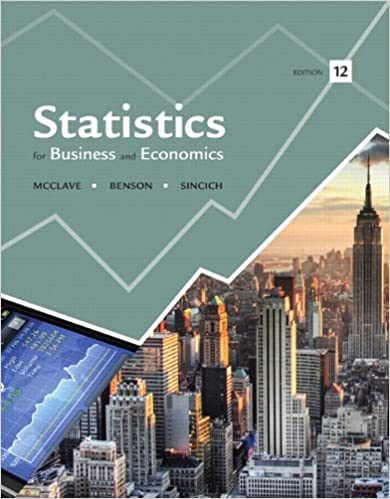 Solution manual for Statistics for Business and Economics 12th Edition by James T. McClave