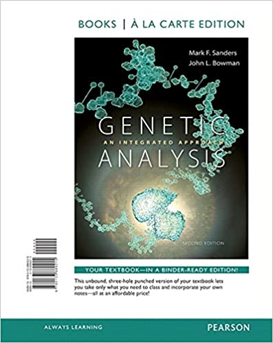 Test bank for Genetic Analysis: An Integrated Approach 2nd Edition by Mark F. Sanders