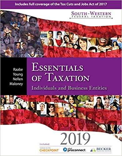 test bank for South-Western Federal Taxation 2019: Essentials of Taxation: Individuals and Business Entities 22nd Edition的图片 1