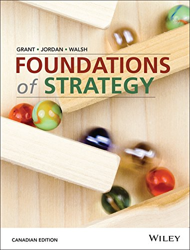 Test Bank for Foundations of Strategy 1st Canadian Edition by Robert M. Grant
