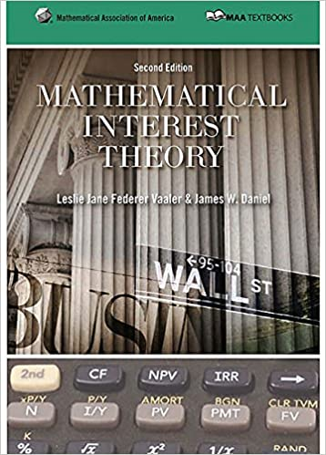 Solution manual for Mathematical Interest Theory 2nd Edition by Leslie Vaaler