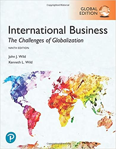 Test bank for International Business The Challenges of Globalization 9th Global Edition by John J. Wild