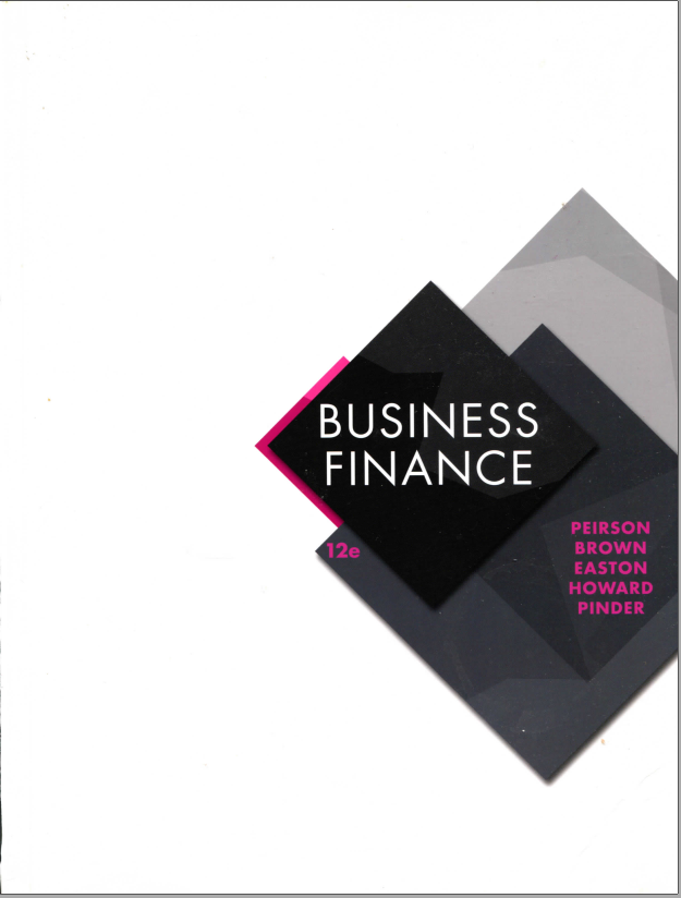 Solution manual for Business Finance 12th Edition by Graham Peirson的图片 1