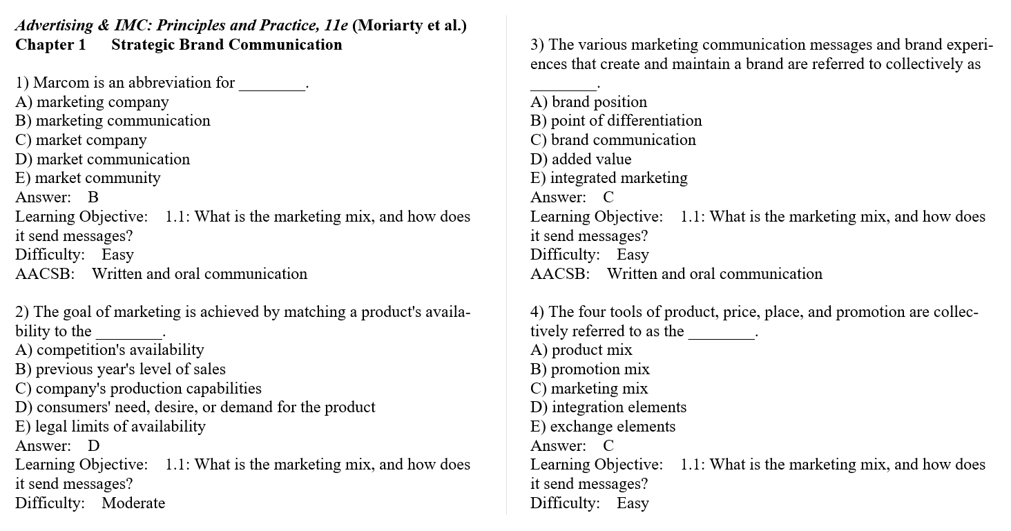 Test bank for Advertising & IMC: Principles and Practice 11th Edition by Kitty Locker的图片 3