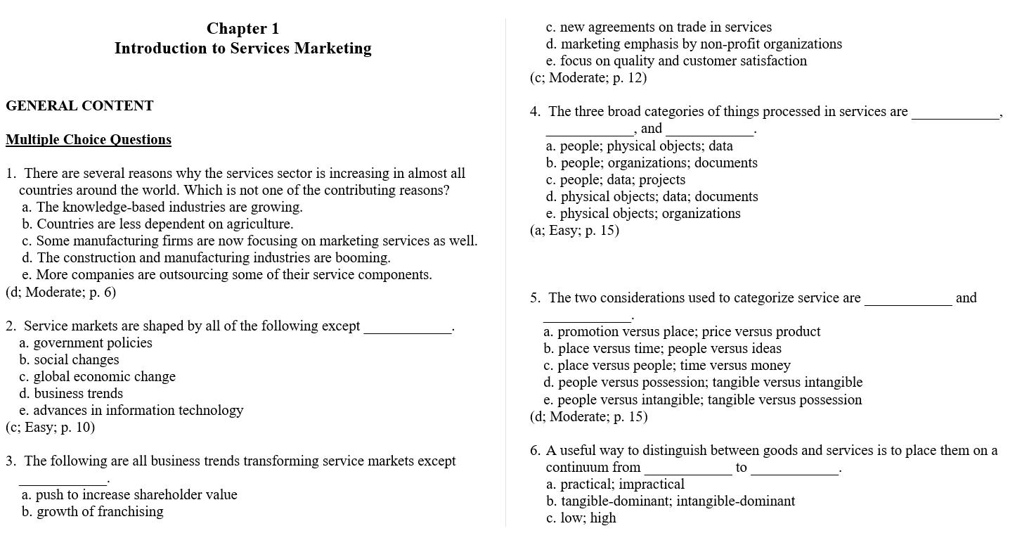 Test bank for Essentials of Services Marketing 2nd Edition by Jochen Wirtz的图片 3