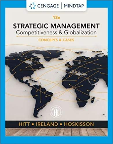 Test bank for Strategic Management Concepts and Cases Competitiveness and Globalization 13th edition by Michael A. Hitt