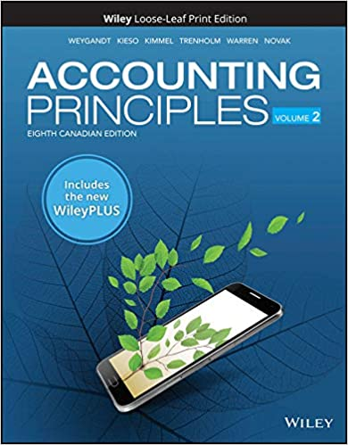 Test bank for Accounting Principles Volume 2, 8th Canadian Edition by Jerry J. Weygandt