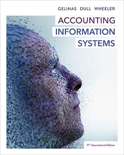 Solution manual for Accounting Information Systems 11th International edition by Gelinas Dull