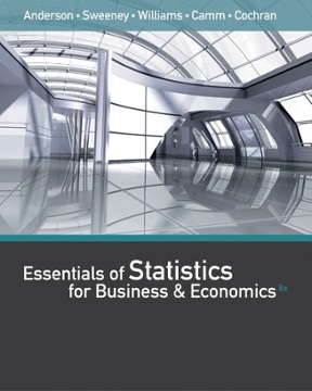 Test bank for Essentials of Statistics for Business and Economics 8th edition by David R Anderson