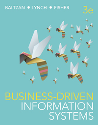 Test bank for Business-Driven Information Systems 3rd edition by Paige Baltzan
