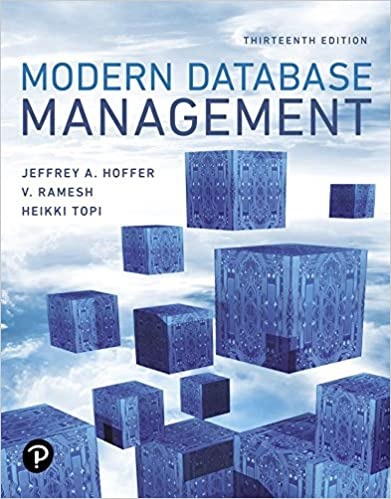 Solution manual for Modern Database Management 13th edition by Jeffrey A. Hoffer