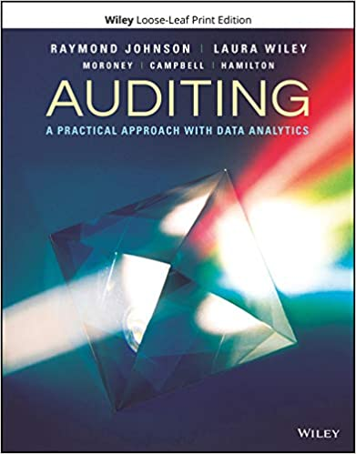 Solution manual for Auditing: A Practical Approach with Data Analytics 1st Edition by Raymond N. Johnson