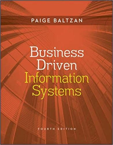 Test bank for Business Driven Information Systems 4th Edition by Paige Baltzan