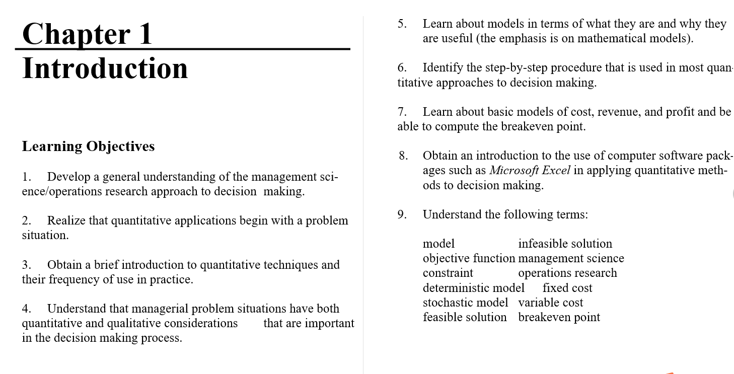 Solution manual for An Introduction to Management Science: Quantitative Approach 15th Edition by David R. Anderson的图片 3