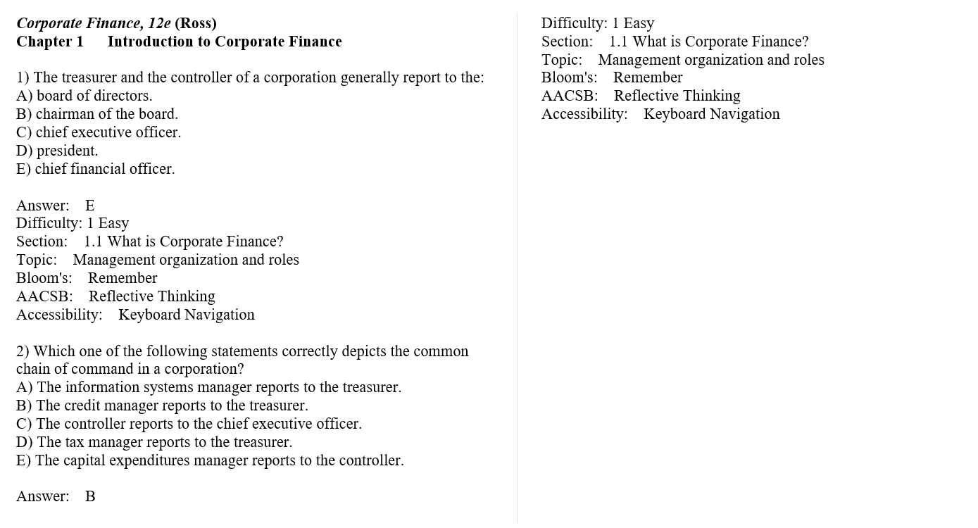 Test bank for Corporate Finance 12th Edition by Stephen Ross的图片 3