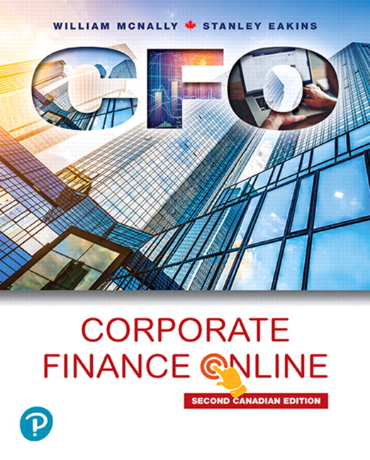 Test bank for Corporate Finance Online 2nd canadian Edition by William McNally