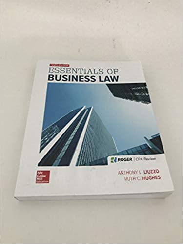 Test bank for Essentials of Business Law 10th Edition by Anthony Liuzzo
