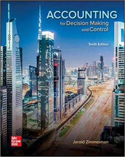 Solution manual for Accounting for Decision Making and Control 10th Edition by Jerold Zimmerman