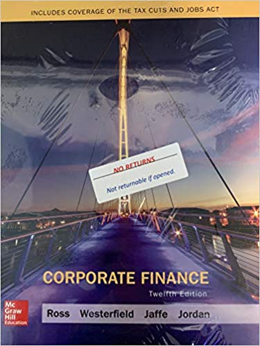 Test bank for Corporate Finance 12th Edition by Stephen Ross