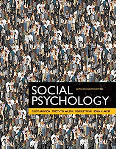 Test Bank for Social Psychology 6th Canadian Edition by Elliot Aronson