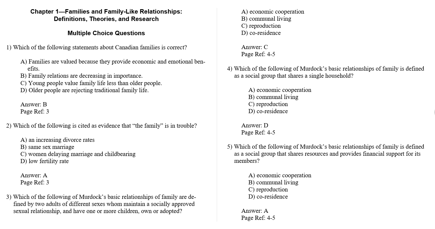 Test bank for Close Relations: An Introduction to the Sociology of Families 6th Edition by Susan A. McDaniel的图片 3