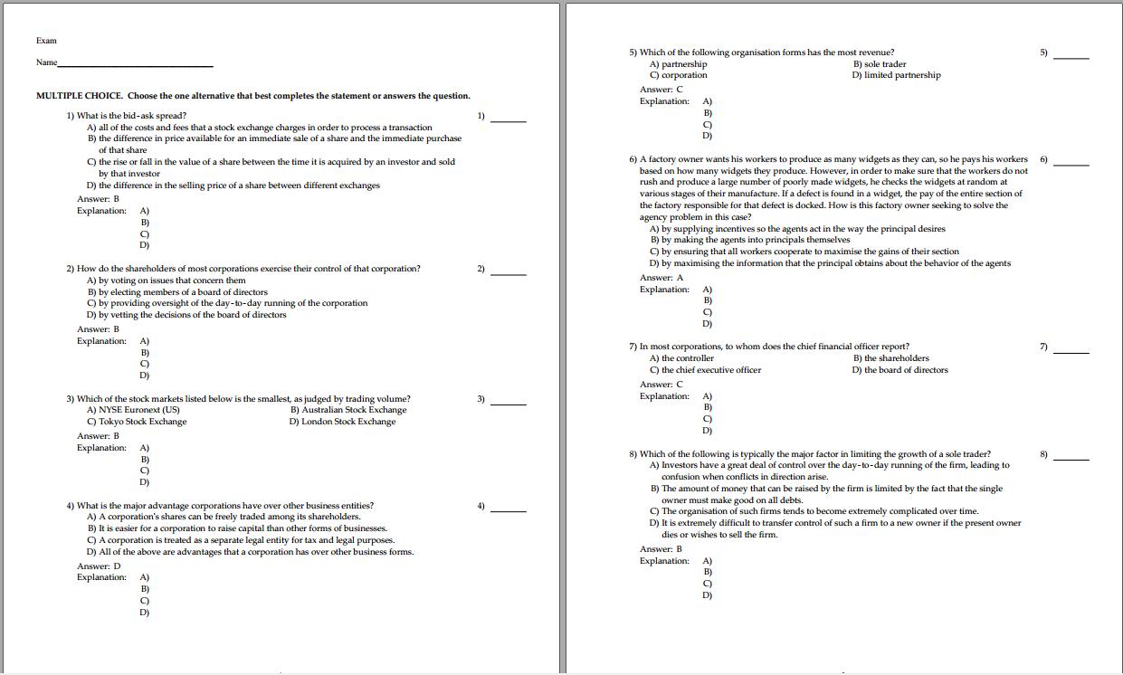 Test bank for Fundamentals of Corporate Finance 2nd Australian Edition by Jonathon Berk的图片 3