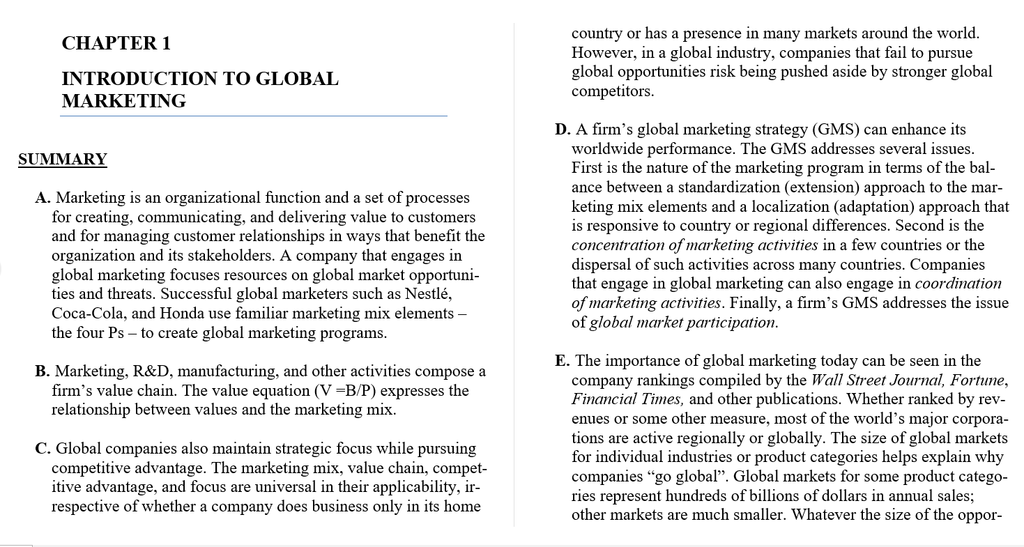 Solution manual for Global Marketing Global Edition 10th Edition by Mark C. Green的图片 3