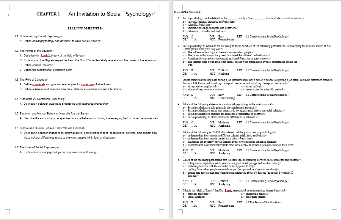Test bank for Social Psychology 5th Edition by Tom Gilovich的图片 2