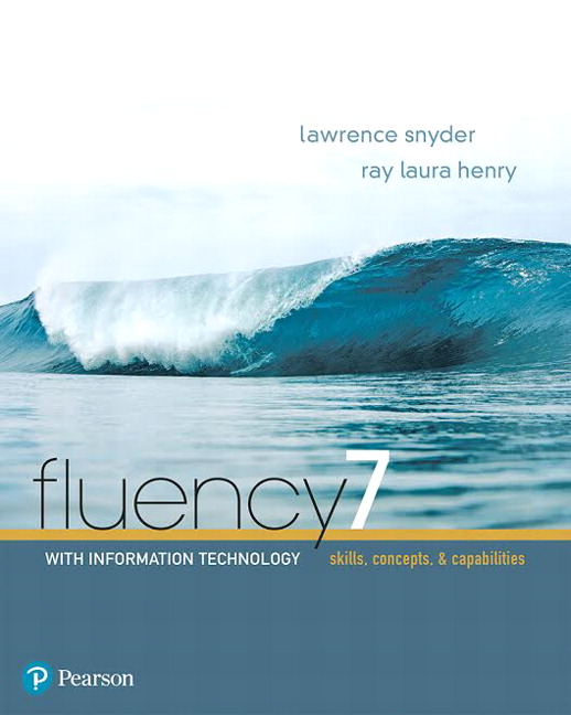 Test bank for Fluency With Information Technology 7th Edition by Lawrence Snyder