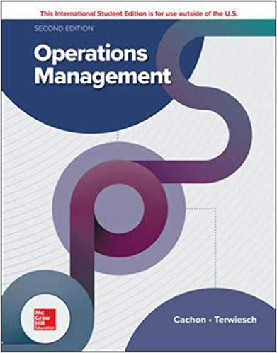 Solution manual for Operations Management 2nd Edition by Gerard Cachon