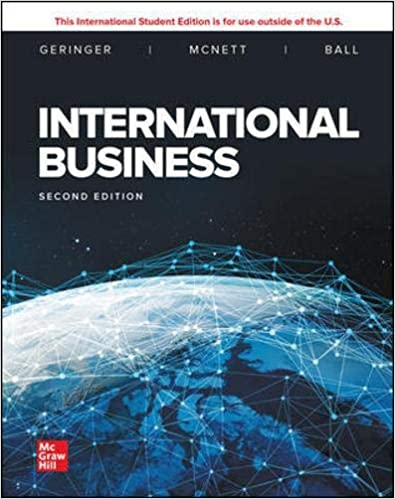 Test bank for International Business 2nd Edition by Michael Geringer