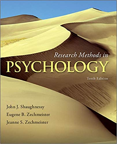 Instructor manual for Research Methods in Psychology 10th Edition by John Shaughnessy