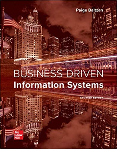 Test bank for Business Driven Information Systems 7th Edition by Paige Baltzan