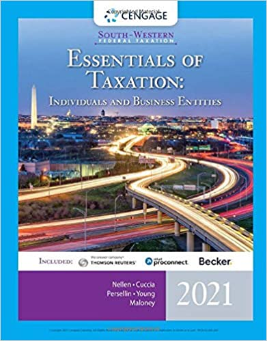 Test bank for South-Western Federal Taxation 2021: Essentials of Taxation: Individuals and Business Entities 24th Edition by Nellen