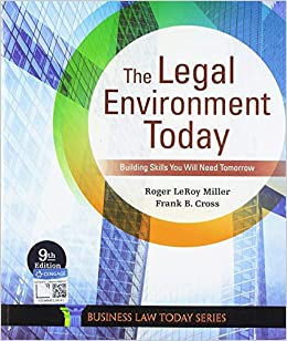 Test bank for The Legal Environment Today 9th Edition by Roger LeRoy Miller的图片 1