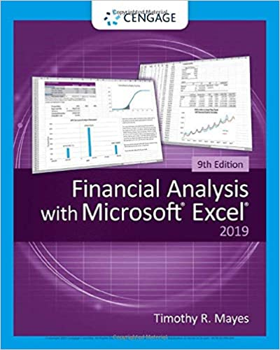 Solution manual for Financial Analysis with Microsoft Excel 9th Edition by Timothy R. Mayes