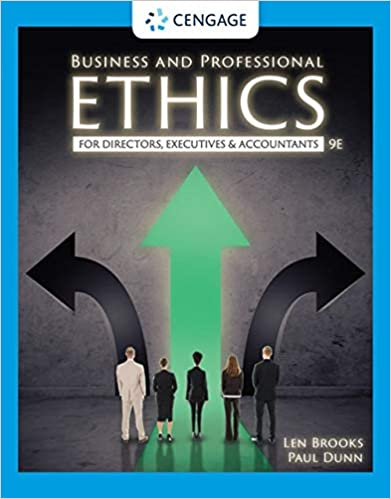 Solution manual for Business and Professional Ethics 9th Edition by Leonard J. Brooks